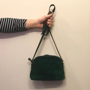 💚Jade green suede Valerie Stevens shoulder bag💚